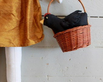 A Silk Hen + Little Basket
