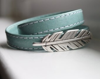 Leather Wrap Bracelet - Boho Leather Wrap Bracelet - Cuff Bracelet