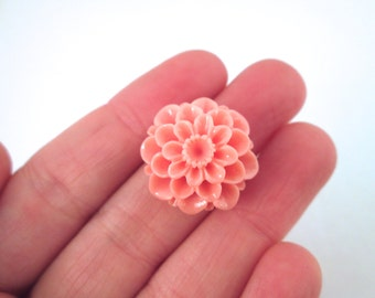 21mm pink chrysanthemum cabochons (6)