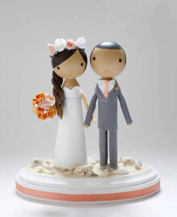 beach cake toppers custom wedding cake topper base 1533