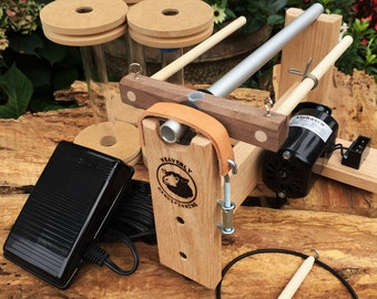 Oak Vespera E spinner with Foot Controller, No treadling a wheel ever again-Free US Shipping, Made by Heavenly Handspinning