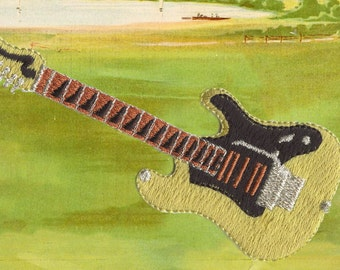 Guitar Musical Instrument Applique!
