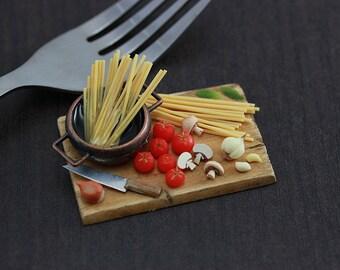 Spaghetti Making - 1:12 Scale Dollhouse Miniature Preparation Board