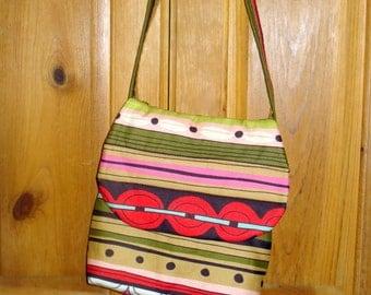 Modern Striped Cross Body Bag