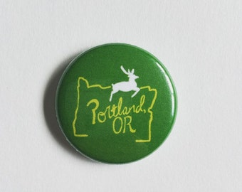 Portland, OR 1 inch Button Pin
