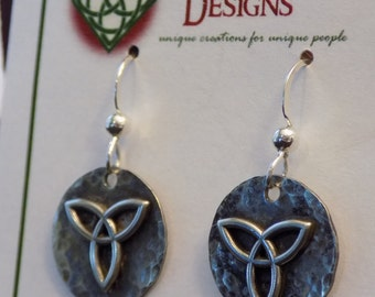 Sterling Silver Celtic Triquetra Earrings