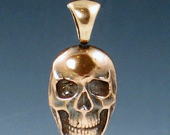CS15 - Copper Skull Charm by michelegradydesigns - Skull Pendant