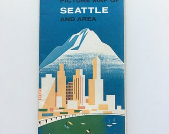 Vintage 1962 Seattle Worlds Fair Brochure and Map from Canadian Bank.