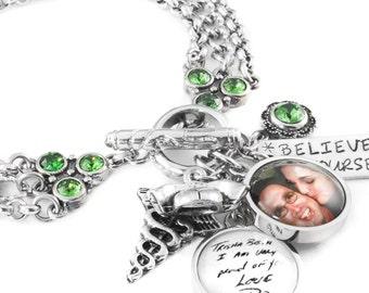 Memorial Bracelet - Remembrance -  Photo Jewelry - Memorial Photo Jewelry - Memory Bracelet - Charm Bracelet