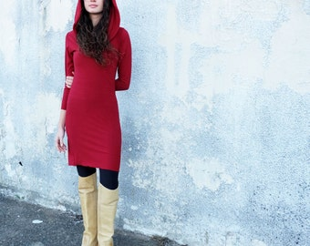 ORGANIC STRETCHY Super Cowl Pencil Tunic (organic cotton lycra)