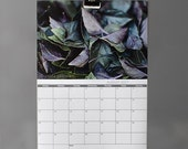 Wall calendar 2017 Monthly planner with hanging gear magnetic clip Nature poster A4 A3 12 moths large calendar with daily to-do list space