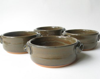 Soup Bowls Set of 4 Individual Bakers French Onion Soup Bowls Small Casseroles