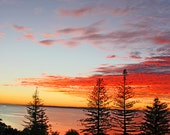 Australia sunset, beach sunset, sunset photo, ocean sunset, ocean photo, beach decor, ocean decor, sunset photograph, sunset print