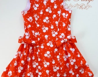 Drop waist dress, Anastasia, sizes 12/18 months to 6