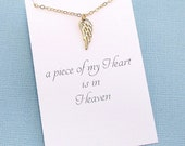 Miscarriage Necklace | Tiny Angel Wing Necklace | Infant Loss | Sympathy Gift | Loss of a Child | Sympathy Card | Gold or Silver | R07