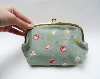 Cosmetic bag, cute Japanese images, cotton purse