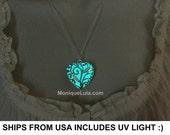 The Original Heart of Winter Frozen Fairy Forest Glow in the Dark Necklace