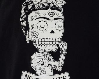 Frida the Riveter Calavera Womens T-Shirt Small, Medium, Large, X-Large in 5 Colors