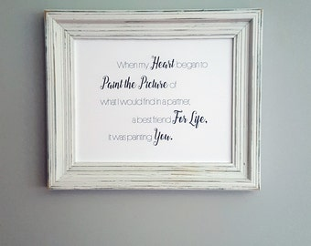 FRAMED Personalized Quote Print, Wedding Vows, Custom Word Art, Wall Art, Anniversary Gift, First Anniversary, Paper Anniversary, Love Quote