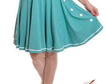 BETTY_30 6-Button circle skirt MINT