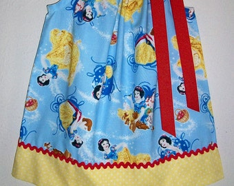 Girls Dress Pillowcase Dress Snow White Dress Princess Party Princess Clothes baby dress toddler dress Snow White Clothes Princess Birthday
