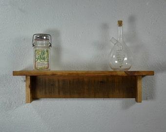 "Wood shelf  with wax finish 20"" long  x 5"" deep"