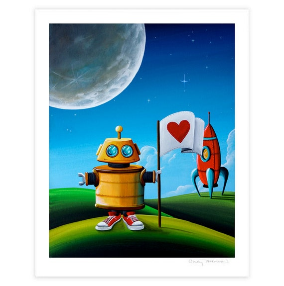 Robot Series Limited Edition - Greetings - Signed 8x10 Semi Gloss Print (5/10)