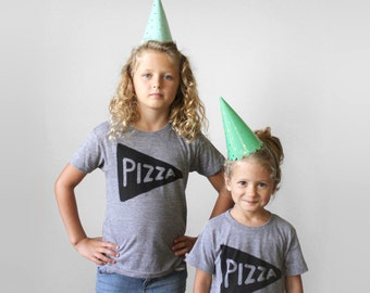 Best Friend Shirt Set, Pizza Shirt Set, funny tshirts girls, unisex kids clothes, best friend gift, bestie tees, kids shirts matching shirts