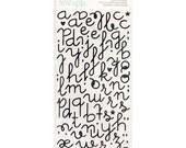 Heidi Swapp Specialty Stickers Black Glitter Puffy Alphabet Sticker (81pcs) Planner Stickers • Glitter Sticker (312251)