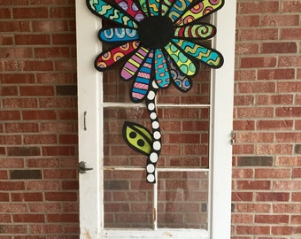 Metal Flower Door Hanger, Spring Door Decor, Summer Door Decor, Flower Wreath, easter door hanger, unique morhers day fift