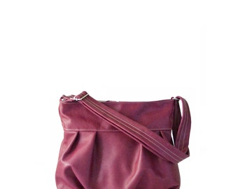 Ruche Mini in Rose, Market Bag, Pleated Hobo, Ruche Bag, Floral fabric print, Pleated Market Bag, Zipper Top Hobo