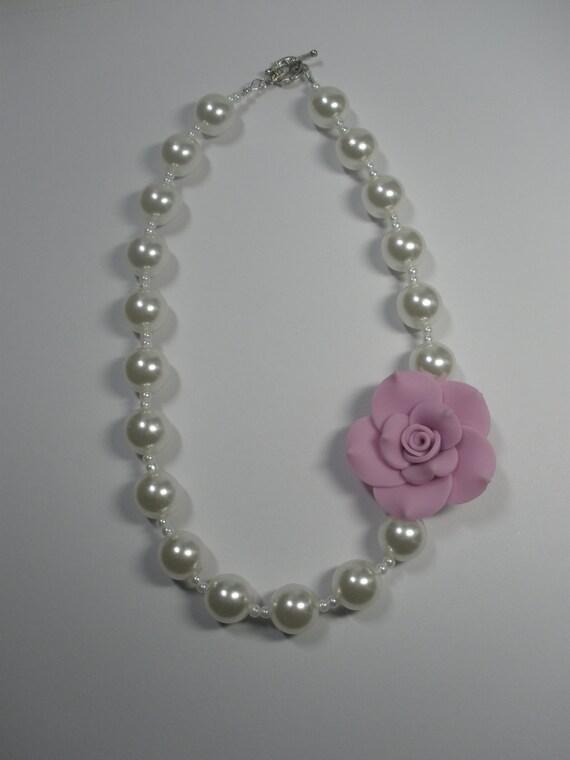 Little girl necklace kids jewelry little girl pearls girls