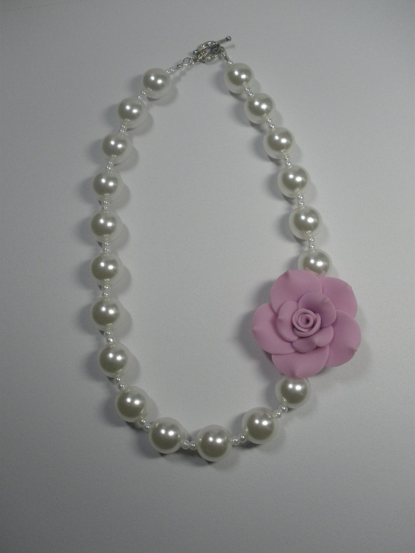 little girl necklace kids jewelry little girl pearls girls. Black Bedroom Furniture Sets. Home Design Ideas