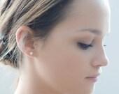 Minimalist 14K Gold Earrings W/ Pearls-Fine Earrings-14k Gold & Freshwater Pears-14K Gold Earrings-Pearl Earrings