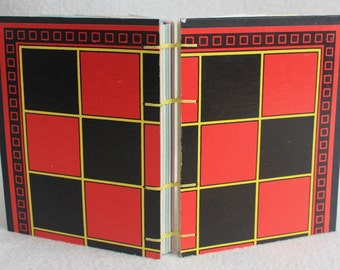 Checkers Journal Recycled Game Board Book by PrairiePeasant