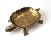 Vintage Brass Turtle Coin, Soap, Jewelry or Trinket Dish Tray