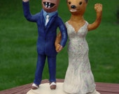 Advance payment for a Cake Topper - Mascots in Personalized Wedding Attire