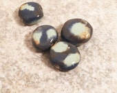 Handmade ceramic beads Ceramic beads Porcelain clay beads for jewelry