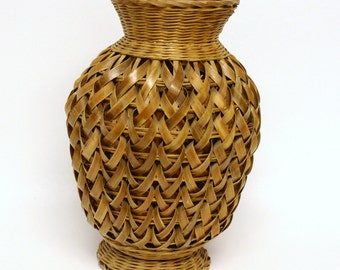 Wicker Basket Vase