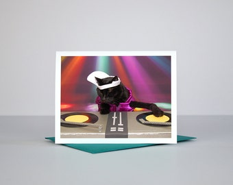 AC is DJ Mad Catter Greeting Card