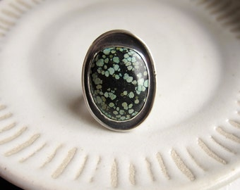 RESERVED Statement Turquoise and Sterling Silver ring  |||  size 5