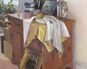 "Sale! Framed Art painting still life interior ""Studio View""16x20"" original oil painting by Sarah Sedwick"