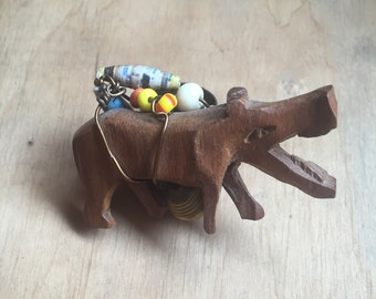 Double Finger Ring // Animal Ring // Boho Jewelry // Two Finger Ring // Bohemian Jewellery // Statement Ring // Hippo Rhino // Burning Man