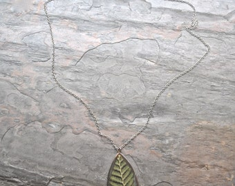 Silver Pressed Fern Necklace Pressed Flower Jewelry Botanical