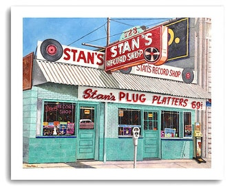 "Shreveport ""Stan's Record Shop"" Art Prints Signed and Numbered"