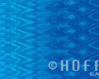 Ombre Radiant Gradient Blue Ikat Hoffman Fabric 1 yard