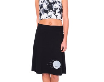Women jersey knit skirt Pull on skirt Women skirts midi