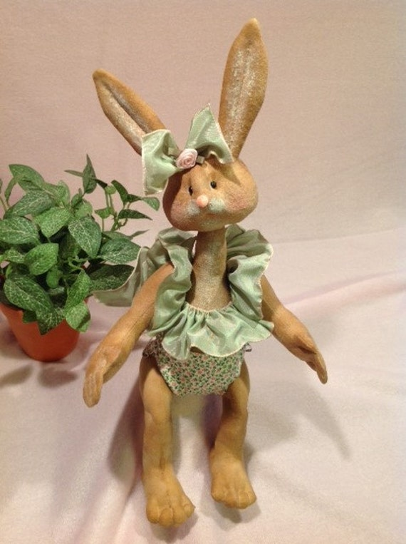 Mailed Cloth Doll Pattern adorable 12in Girl Bunny Rabbit