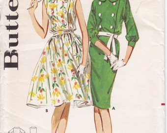 Vintage Pattern Butterick 3001 Dress 60s Size 10 B31