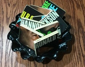 RONALD SHANNON JACKSON upcycled Decode Yourself music coasters and wacky vinyl bowl